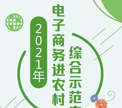 2021年电子商务进农村综合示范来啦!